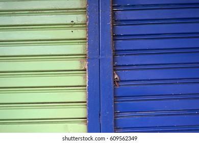 Pattern,texture and surface of steel plate,steel door,metal sheet,painted color