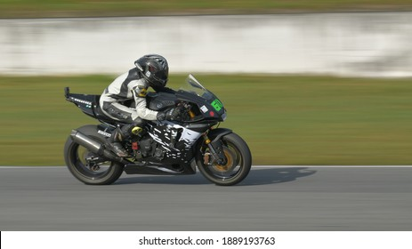 PATTHAYA THAILAND - DECEMBER 21 : Motorsport motorcycle racing speed competition championship at Patthaya city of THAILAND on 21 December 2020.