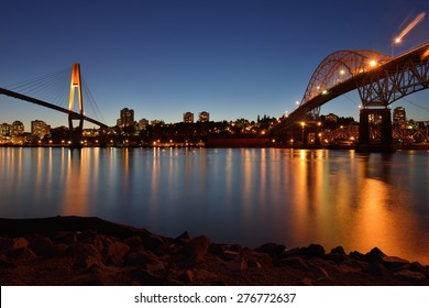The Pattullo Bridge is a through arch bridge located in the Metro Vancouver, the SkyBridge is a cable-stayed bridge