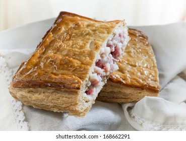 patty stuffed with cheese and ham