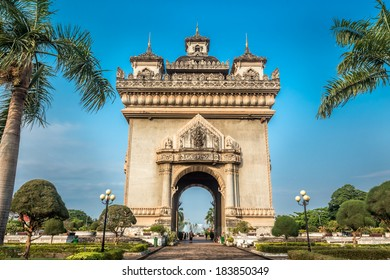 Patuxai literally meaning Victory Gate or Gate of Triumph, formerly the Anousavary or Anosavari Monument, known by the French as (Monument Aux Morts) is a war monument in the centre of Vientiane, Laos