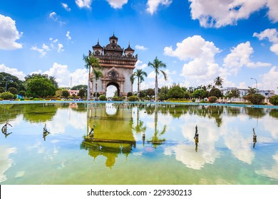 Patuxai literally meaning Victory Gate or Gate of Triumph, formerly the Anousavary or Anosavari Monument, known by the French as (Monument Aux Morts) is a war monument in the centre of Vientiane,Laos