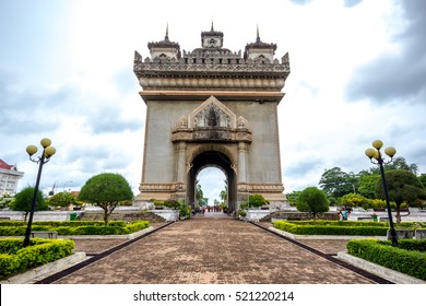Patuxay or Patuxai is a war monument in the centre of Vientiane, Victory Gate or Gate of Triumph, Vientiane, Laos