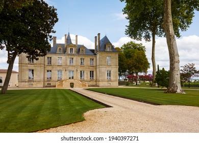 PAUILLAC, FRANCE - August 8, 2018: Château Pichon Longueville Comtesse de Lalande