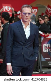 Paul Bettany attends the European film premiere of 'Captain America: Civil War' at Vue Westfield on April 26, 2016 in London, England