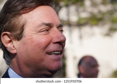 Paul Manafort leaving the E. Barrett Prettyman United States Courthouse in Washington, D.C. after after being indicted on October 30, 2017.