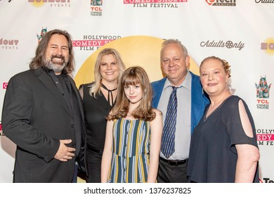 Paul Overacker, Marjorie DeHey, Afra Tully, Andy Forrest, Heidi Putallaz attend 2019 Hollywood Comedy Shorts Film Festival at TCL Chinese Theatres 6, Hollywood, CA on April 20, 2019