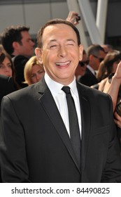 Paul Reubens, aka Pee Wee Herman, at the 2011 Primetime Creative Arts Emmy Awards at the Nokia Theatre L.A. Live. September 10, 2011  Los Angeles, CA Picture: Paul Smith / Featureflash