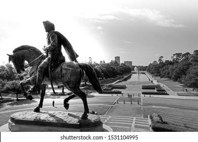 Paul Revere Statue Drone Photograph
