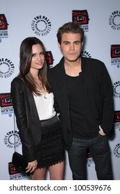 """Paul Wesley and Torrey DeVitto at the opening of """"Television: Out Of The Box,"""" Paley Center for Media, Beverly Hills, CA 04-12-12"""