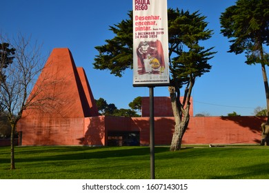 Paula Rego Stories House (Casa das Histórias Paula Rego) is an art museum and its mission is to know Paula Rego's work and her artistic connections. Cascais, Portugal, January 2020