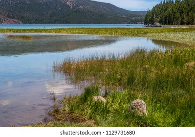 Paulina Lake, a peaceful fishing lake in the Newberry Volcano Caldera, Newberry National Volcanic Monument, near Bend, OR. The volcano is considered to be active, but has been dormant for 1300 years.