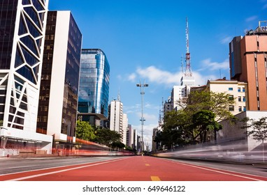 Paulista Avenue in Sao Paulo, Brazil - South America