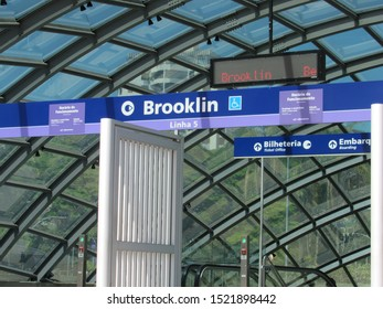 São Paulo, Brazil - October 1st: Brooklin Subway Station. This is one of the newest subway stations in the city. It stays on Santo Amaro Avenue, one of the most busy of São Paulo.