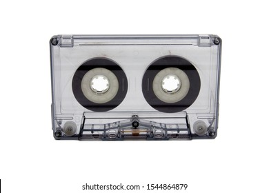 São Paulo, Brazil- October 29, 2019:  A studio shot of a audio cassette K7  isolated on a white background.