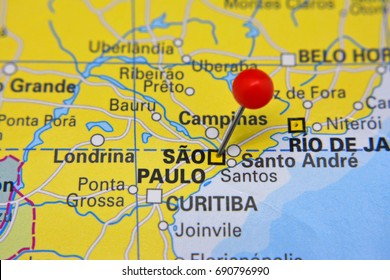 Sao Paulo Map Stock Photos Images Photography Shutterstock