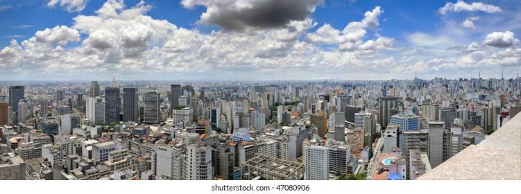 São Paulo panorama, Brasil