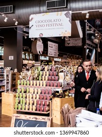 São Paulo, SP - Brazil. April, 14, 2019.  Entrance of Eataly - São Paulo. Eataly is one of the largest international supermarket chains of Italian gastronomy.