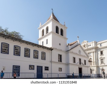 São Paulo, SP/ Brazil - July 08, 2018: 'Pateo do Colégio' landmark of the city, here is the ground zero where the first mass took place and where SP was founded in 1554.