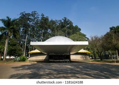 São Paulo, SP, Brazil - June 27, 2018: Astronomy Planetarium at Ibirapuera' park in the morning