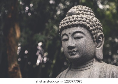São Paulo, SP, Brazil - June 30, 2018: View of a budha in a brazilian temple called Zu Lai Temple.