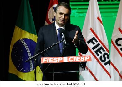 SÃO PAULO, SP/BRAZIL 11.06.2019 - The President of Brazil, Jair Bolsonaro, during an event in the city of São Paulo. (Photo: Fábio Vieira/FotoRua)