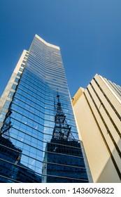 São Paulo/Brazil - June 1st 2019: Modern Skyscraper Building in Paulista Avenue 901 - EDISP (Building Belongs to PETROBRAS Holding)