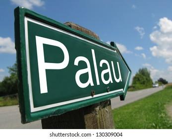 Paulu signpost along a rural road