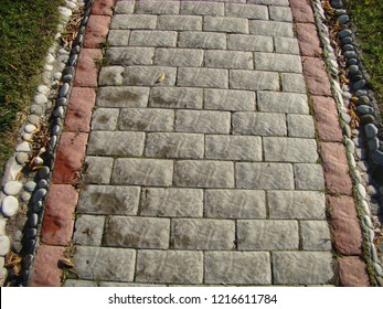 Paved road background view. Paved floor top view. Paved surface background. Paved area top view