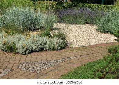 paved walk way  garden design