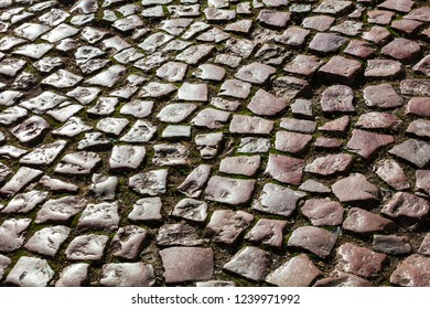 pavement from the beautiful stones as background