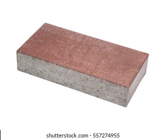 Pavement brick, isolated. Concrete block for paving