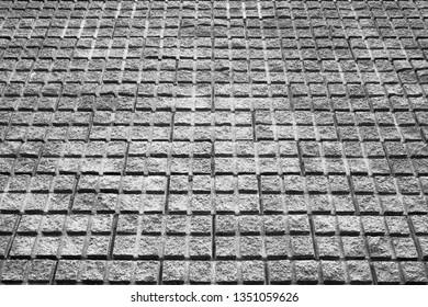 pavement built with concrete elements, textured background