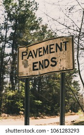 Pavement ends here