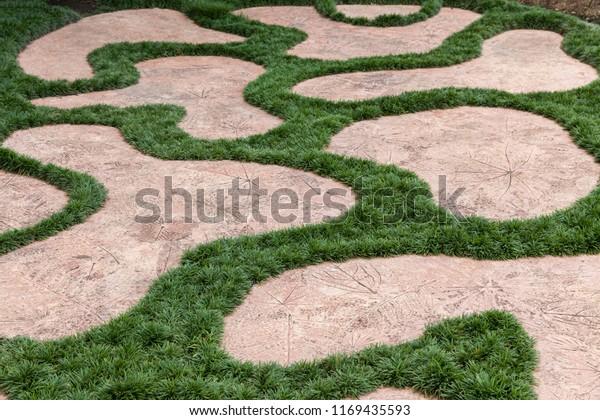 Pavement Landscape Design Withe Stone Imprint Stock Photo Edit Now 1169435593