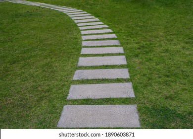 Pavement made of stone in beautiful garden