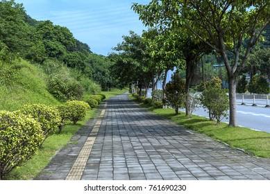 pavement in the suburban of Guangzhou China