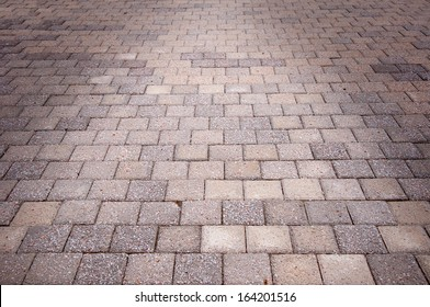 The pavement in the sunlight