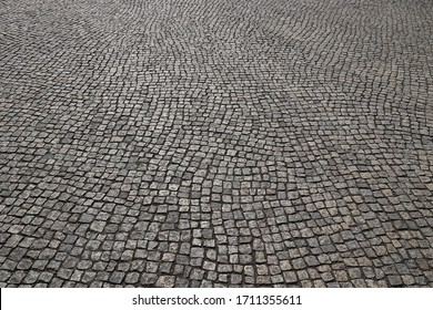 Pavement texture. Granite stone paving background from Dresden, Germany.