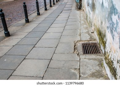 The pavement in the town