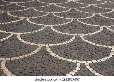 Paver design on a plaza