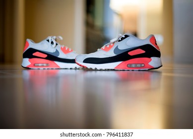 Pavia, Italy - January 17, 2018: Nike Air Max 90 indoor