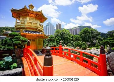 The Pavilion of Absolute Perfection inside Nan Lian Garden. Hongkong