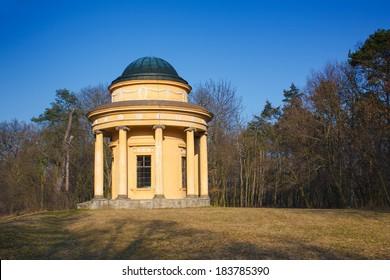 Pavilion of friendship in park in Veltrusy near Prague