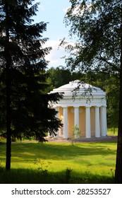 pavilion of friendship in Pavlovsk park Saint-Petersburg Russia