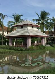 Pavilion on the lake.