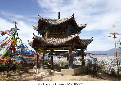pavilion on mountain at Shangri-la