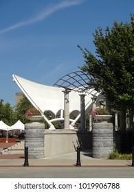 Pavilion in Pack Square Park in Downtown Asheville, North Carolina