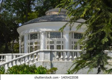 pavilion in Philharmonic Fountain Park in Baku, Azerbaijan