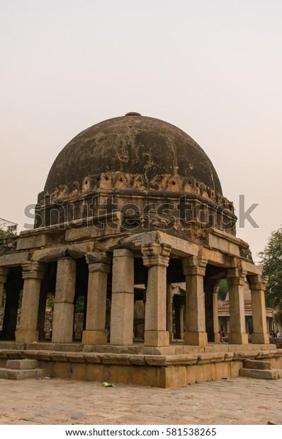Pavilions Hauz Khas Delhi Indiaoctober2016 Madrasa Stock Photo (Edit